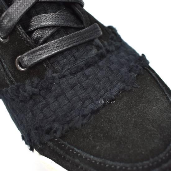 Balmain Black Woven Suede Sneakers DS Size US 8 / EU 41 - 8