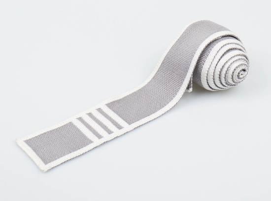 Thom Browne Thom Browne Gray Silk Tie Size ONE SIZE