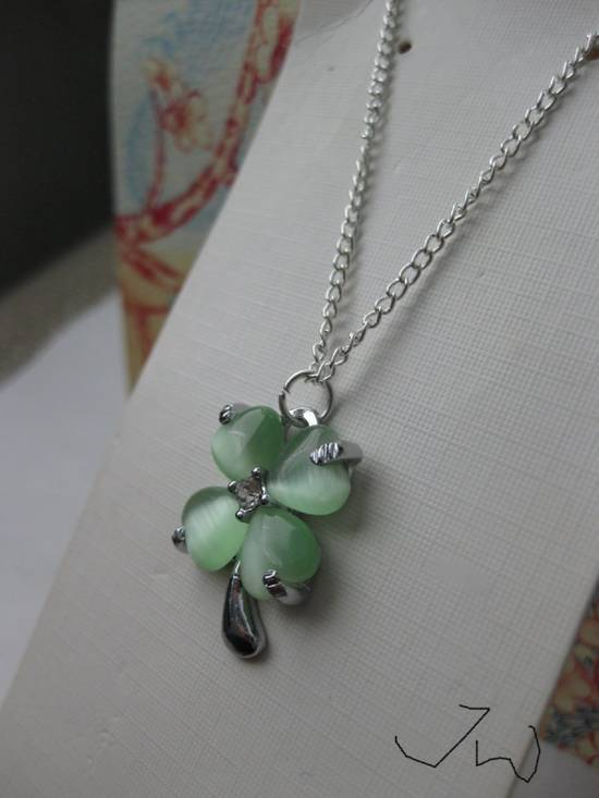 Jw Green Lucky Leaf Chain Necklace Size ONE SIZE - 2