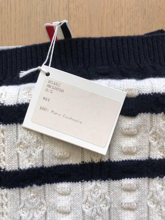 Thom Browne Oblong Cashmere Navy Blue Scarves Size ONE SIZE - 1