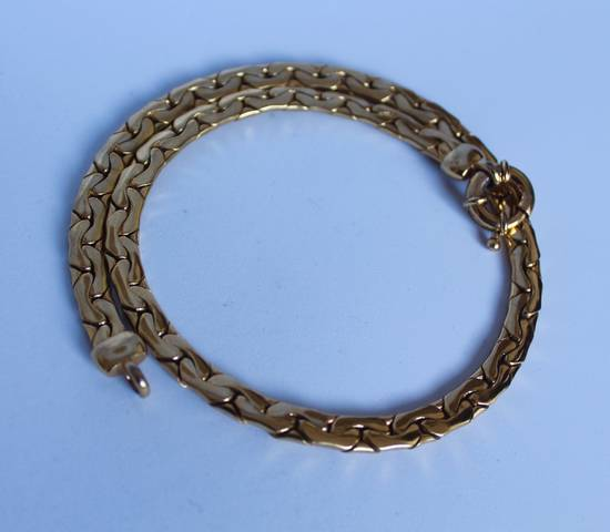 Givenchy Gold Plated Flat Cuban-Link Chain Size ONE SIZE - 1
