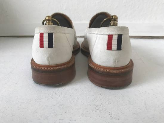 Thom Browne LIMITED THOM BROWNE White Suede Tassel Loafers RWB GG Size US 8.5 / EU 41-42 - 3