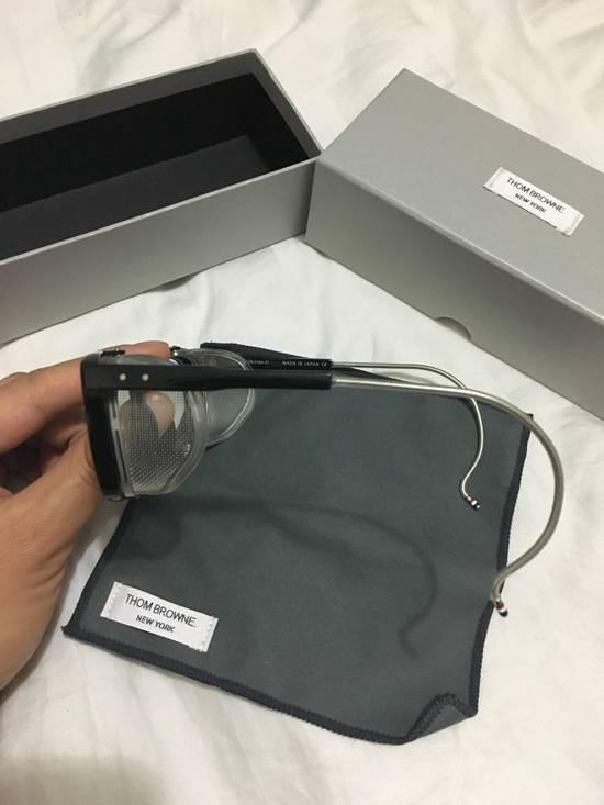 Thom Browne TB-018 Glasses - Black/Matte Silver Size ONE SIZE - 8