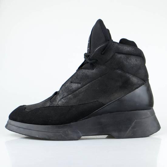 Julius 7 Black Coated Cloth Leather Hi Top Sneakers Shoes Size US 11 / EU 44 - 2