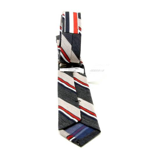 Thom Browne Thom Browne Signature Tri Color Grossgrain Stripped Men's Luxury Fashion Slim Tie Size ONE SIZE - 4