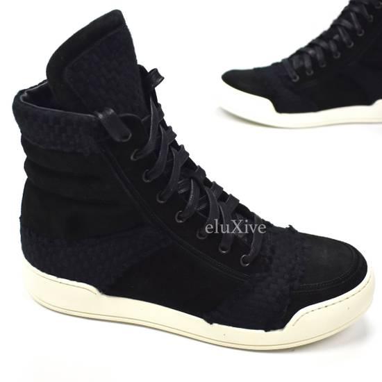 Balmain Black Woven Suede Sneakers DS Size US 8 / EU 41 - 2