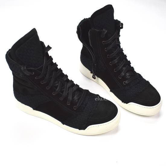 Balmain Black Woven Suede Sneakers DS Size US 8 / EU 41 - 7