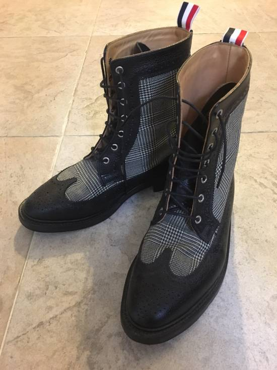 Thom Browne Prince Of Wales Check Boots Size US 7 / EU 40