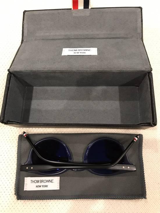 Thom Browne Thom Browne Matte Black Round Frame Sunglasses Size ONE SIZE - 2