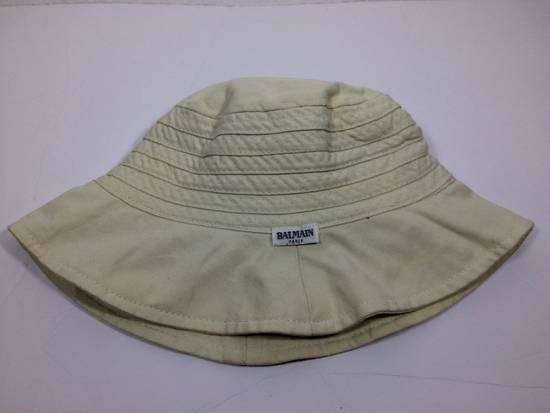 Balmain Cream Bucket Hat Small Size ONE SIZE - 4