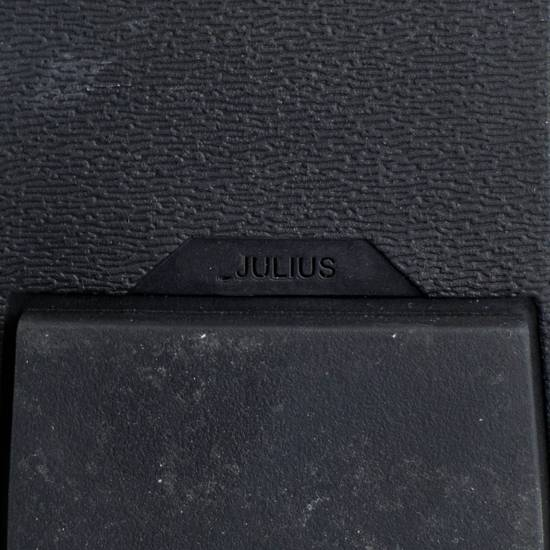 Julius 7 Black Cow Suede Leather Hi Top Sneakers Shoes Size US 11 / EU 44 - 8