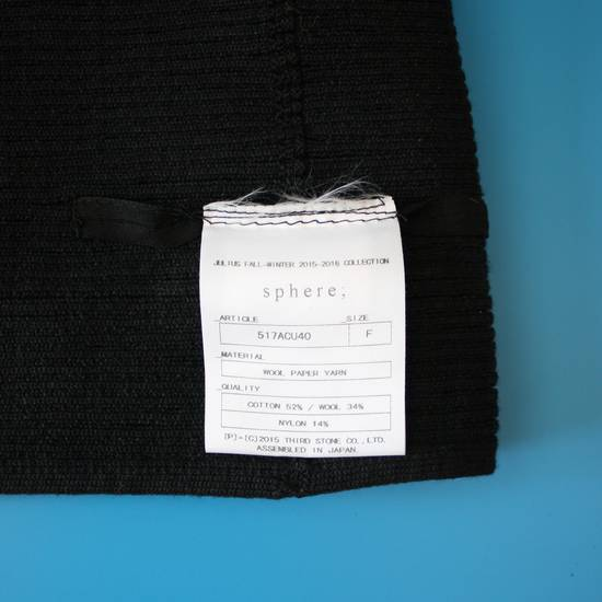 Julius Julius Black Knit Tube Beanie Size ONE SIZE - 2
