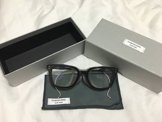 Thom Browne TB-018 Glasses - Black/Matte Silver Size ONE SIZE - 7