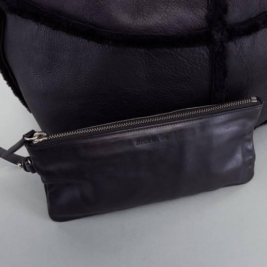 Givenchy GIVENCHY TISCI black reversible leather shearling fur oversize hobo shoulder bag Size ONE SIZE - 12