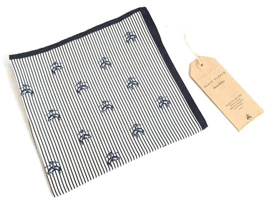 Thom Browne Black Fleece Logo Pocket Square NWT Size ONE SIZE