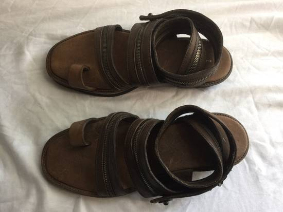 Julius Julius Brown Zipper Sandals Size US 9 / EU 42 - 1