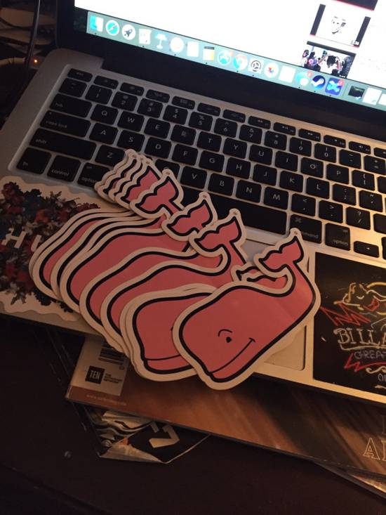 Vineyard Vines Pink Whale Stickers Size ONE SIZE