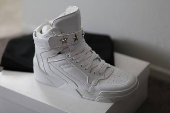 Givenchy Tyson Hightop STARS STRAPS Leather Sneaker Size US 12 / EU 45 - 3