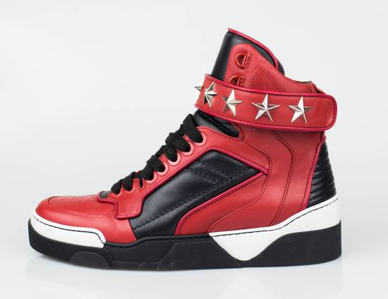 Givenchy Red Leather Hi-Top Fashion Sneakers Size US 7 / EU 40 - 2