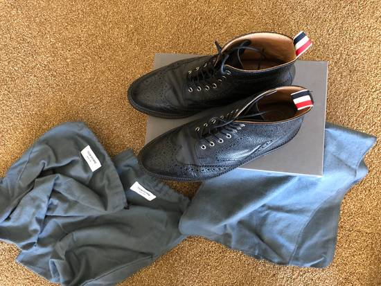 Thom Browne Men's Black Pebble Wingtip Boot Shoe Size US 12 / EU 45 - 5