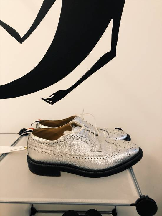 Thom Browne tb silver leather shoes Size US 8.5 / EU 41-42 - 1
