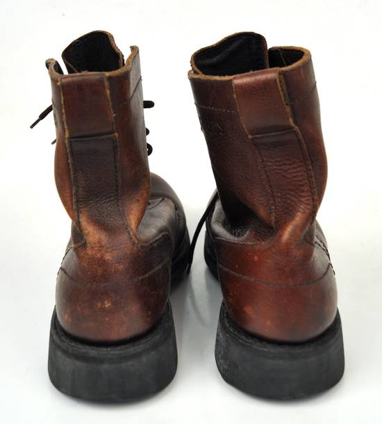 Dirk Bikkembergs Brown Leather 8 Hole Lace Up Hiking