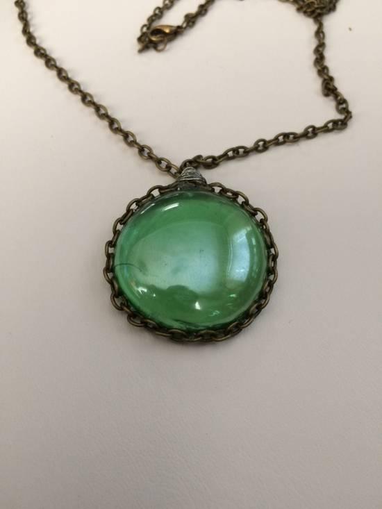 Jw Green glass bronze Chain necklace Size ONE SIZE - 2