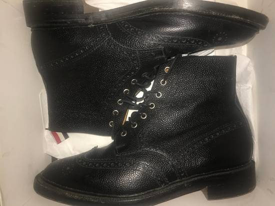 Thom Browne Black Leather Brogue Boots Size US 12 / EU 45 - 7