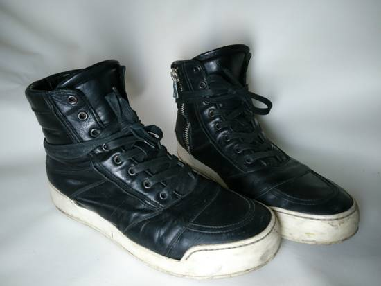 Balmain Black Leather Balmain Baskets Size US 9.5 / EU 42-43