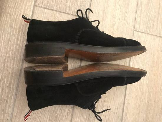 Thom Browne Black Suede Derby Oxford Shoes Size US 9 / EU 42 - 6