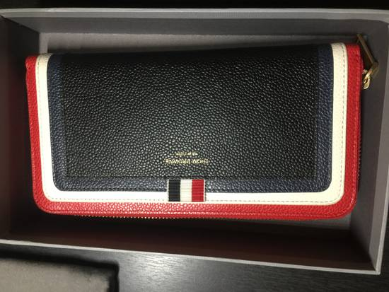 Thom Browne Tricolor Long Zip Around Wallet Size ONE SIZE - 7