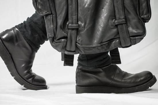 Julius AW09 Black Leather Satchel/Messenger/Shoulder/Tote Bag Size ONE SIZE - 4
