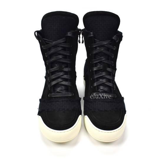 Balmain Black Woven Suede Sneakers DS Size US 8 / EU 41 - 4
