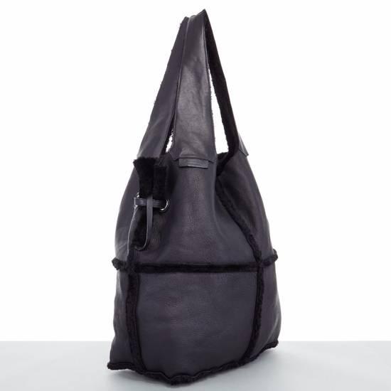 Givenchy GIVENCHY TISCI black reversible leather shearling fur oversize hobo shoulder bag Size ONE SIZE - 5