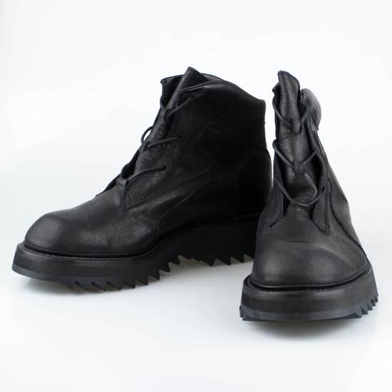 Julius 7 Black Pig Skin Leather Trekking Boots Shoes Size US 11 / EU 44
