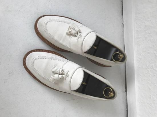 Thom Browne LIMITED THOM BROWNE White Suede Tassel Loafers RWB GG Size US 8.5 / EU 41-42 - 1