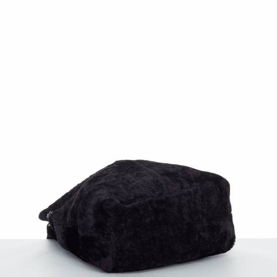 Givenchy GIVENCHY TISCI black reversible leather shearling fur oversize hobo shoulder bag Size ONE SIZE - 9