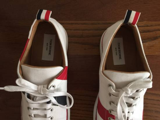 Thom Browne Men's Thom Browne Cap Toe Low-Top White Training Sneakers Size US 11 / EU 44 - 2