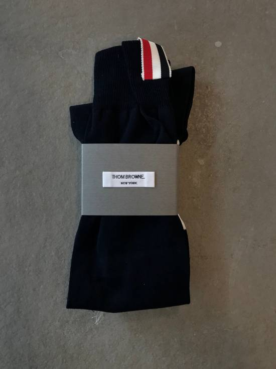 Thom Browne **LAST DROP** Ribbed Knee High Sock W/ 4 Bar Stripe Size ONE SIZE - 1