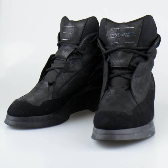Julius 7 Black Coated Cloth Leather Hi Top Sneakers Shoes Size US 11 / EU 44