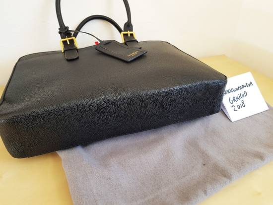 Thom Browne Thom Browne Business Bag briefcase suitcase Black Pebble Grain Size ONE SIZE - 4