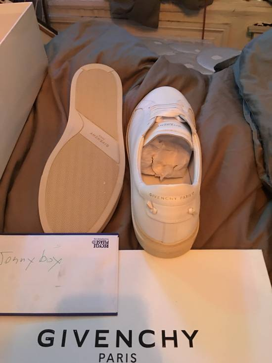 Givenchy Paris White Leather Sneakers Size US 12 / EU 45 - 4