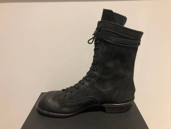 Julius Blistered Leather Back Zip Combat Boots Size US 11 / EU 44
