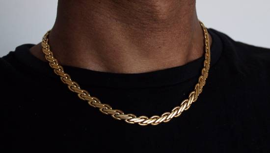 Givenchy Gold Plated Flat Wheat-Link Chain Size ONE SIZE - 5