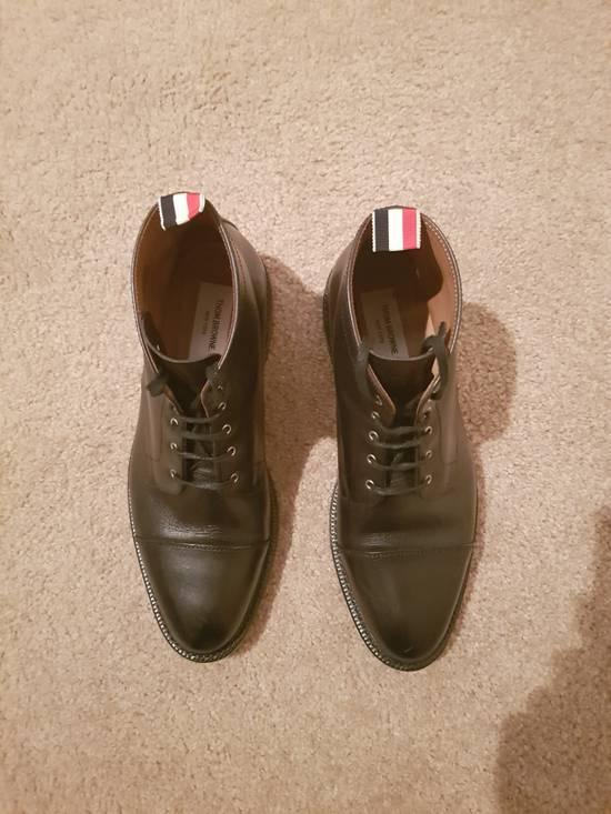 Thom Browne Black Cropped Derby Boot Size US 10.5 / EU 43-44 - 5