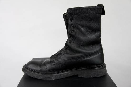 Dior Aw07 Dior Homme Black Leather Military Combat Boots