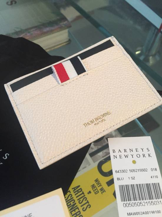 Thom Browne New $370 Leather Card Holder Size ONE SIZE - 5