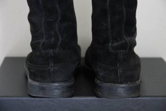 Dior RARE AW04 Dior Homme 'VOTC' Hedi Slimane Black Suede Leather Boots 42 / 9 Size US 9 / EU 42 - 7