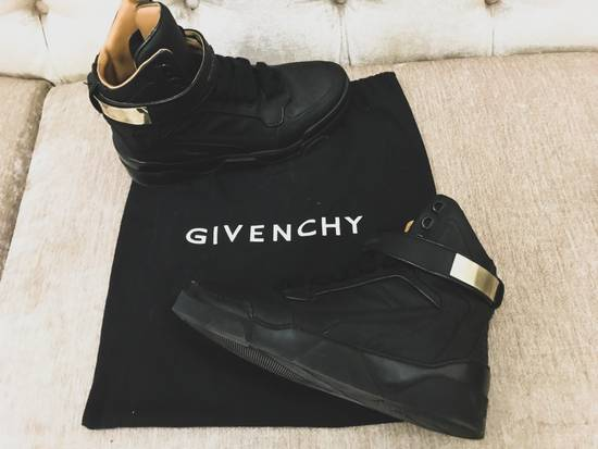 Givenchy High-Top Gold-Strap Sneaker Size US 7 / EU 40 - 15