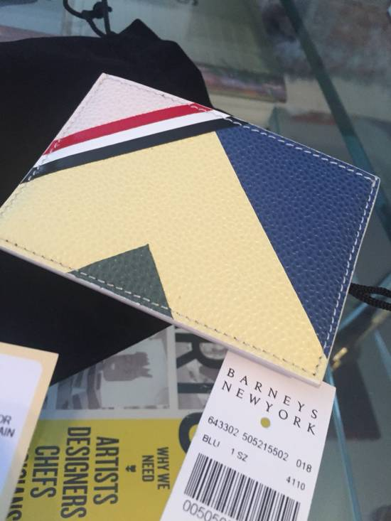 Thom Browne New $370 Leather Card Holder Size ONE SIZE - 7